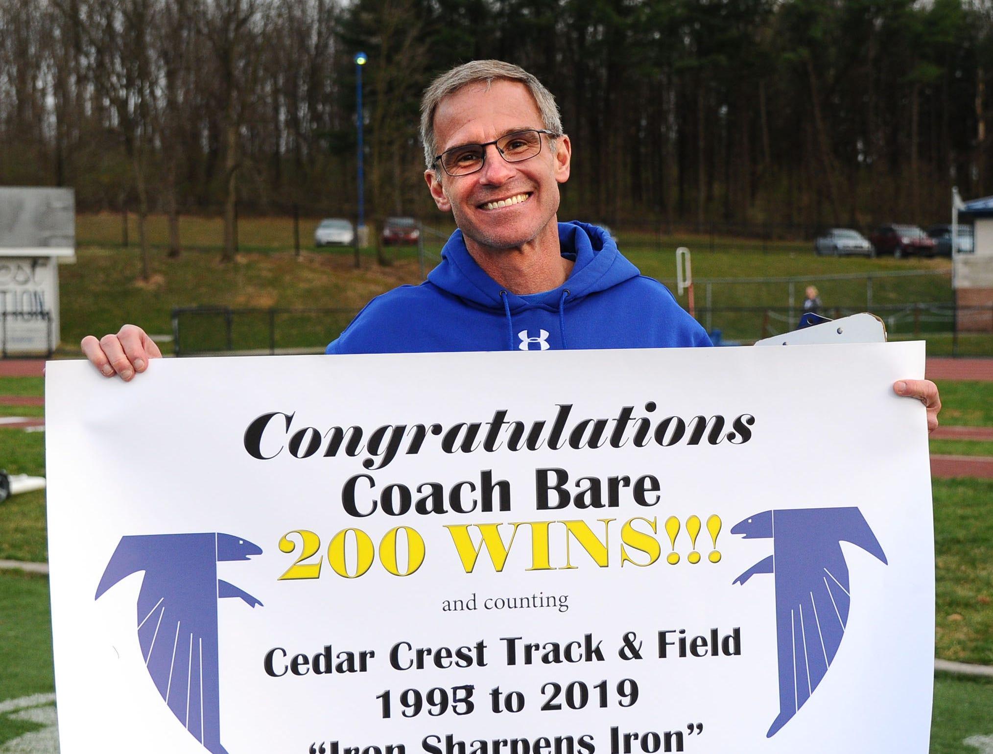 Rob Bare celebrates his 200th win