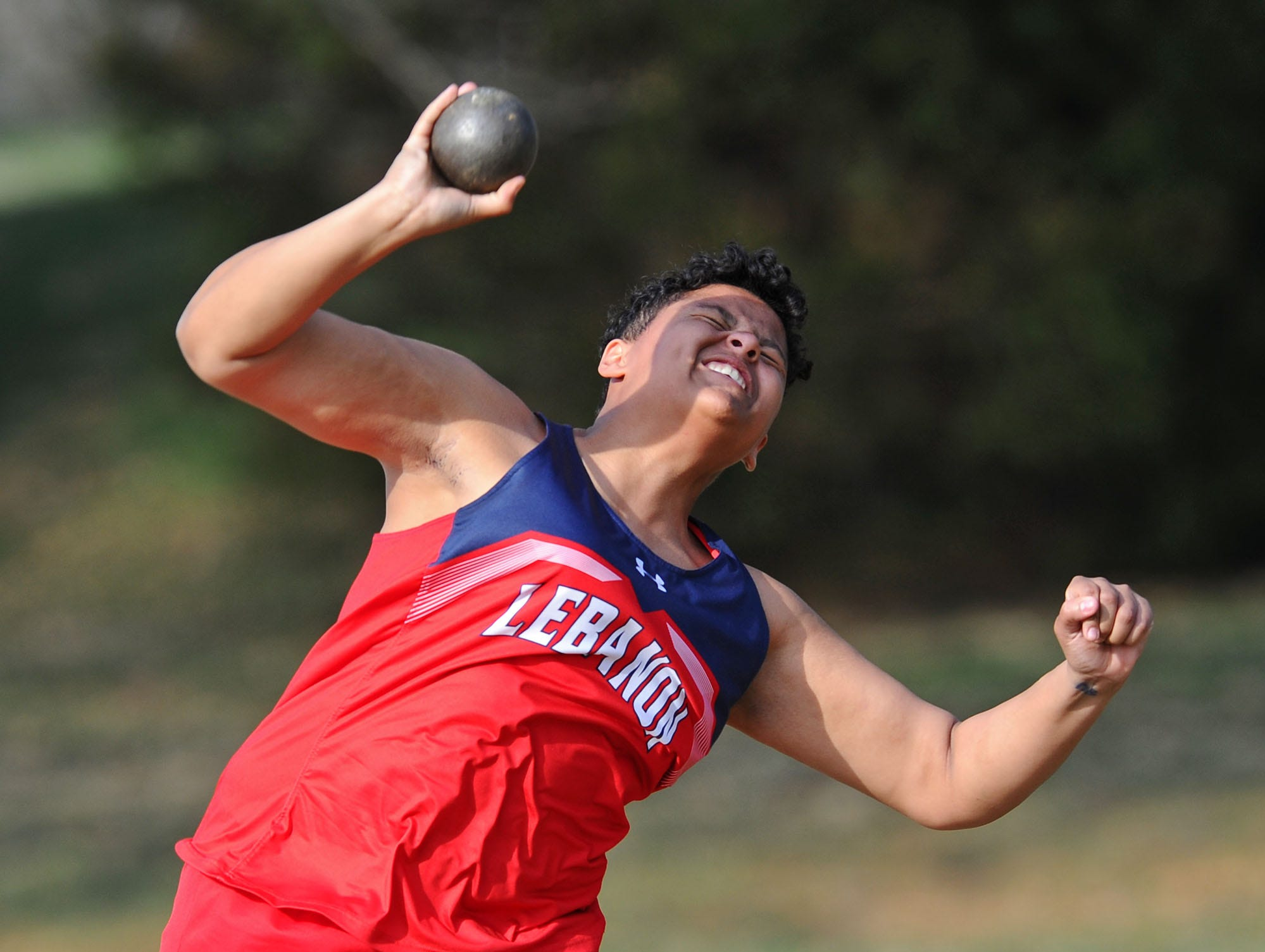 ShanAnn Simmons helped Lebanon end a nine-year dual meet losing streak by winning the shot put in Monday's victory over Garden Spot.