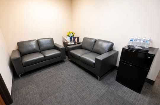 The new P.S. You're My Hero Comfort Room, which is inside the Victim Rights Office at the St. Clair County Courthouse, offers victims a separate waiting area with coffee and light snacks.