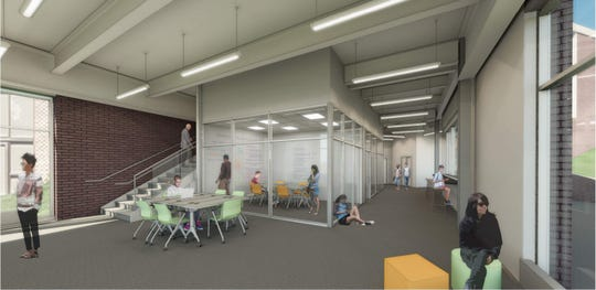 Rendering for the Graham Center for Innovation and Collaboration, a new location for the Graham Fellows program expected to be complete by the summer of 2020. The project will break ground at Penn State York campus Wednesday, April 17.