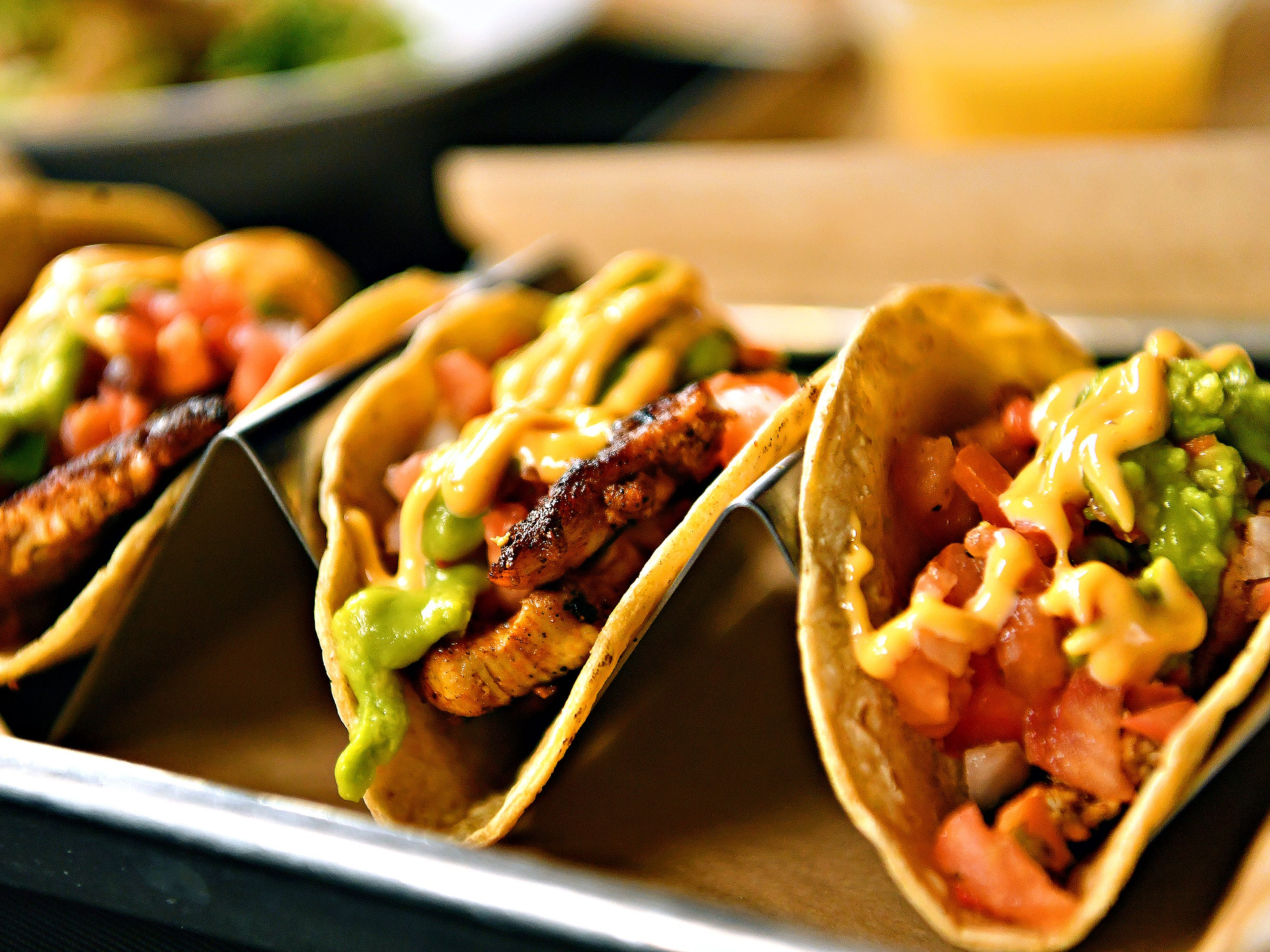 A Taco Trio is served at White Rose at Bridgewater, which overlooks Bridgewater Golf Course, in York Township, Friday, April 12, 2019. Dawn J. Sagert photo