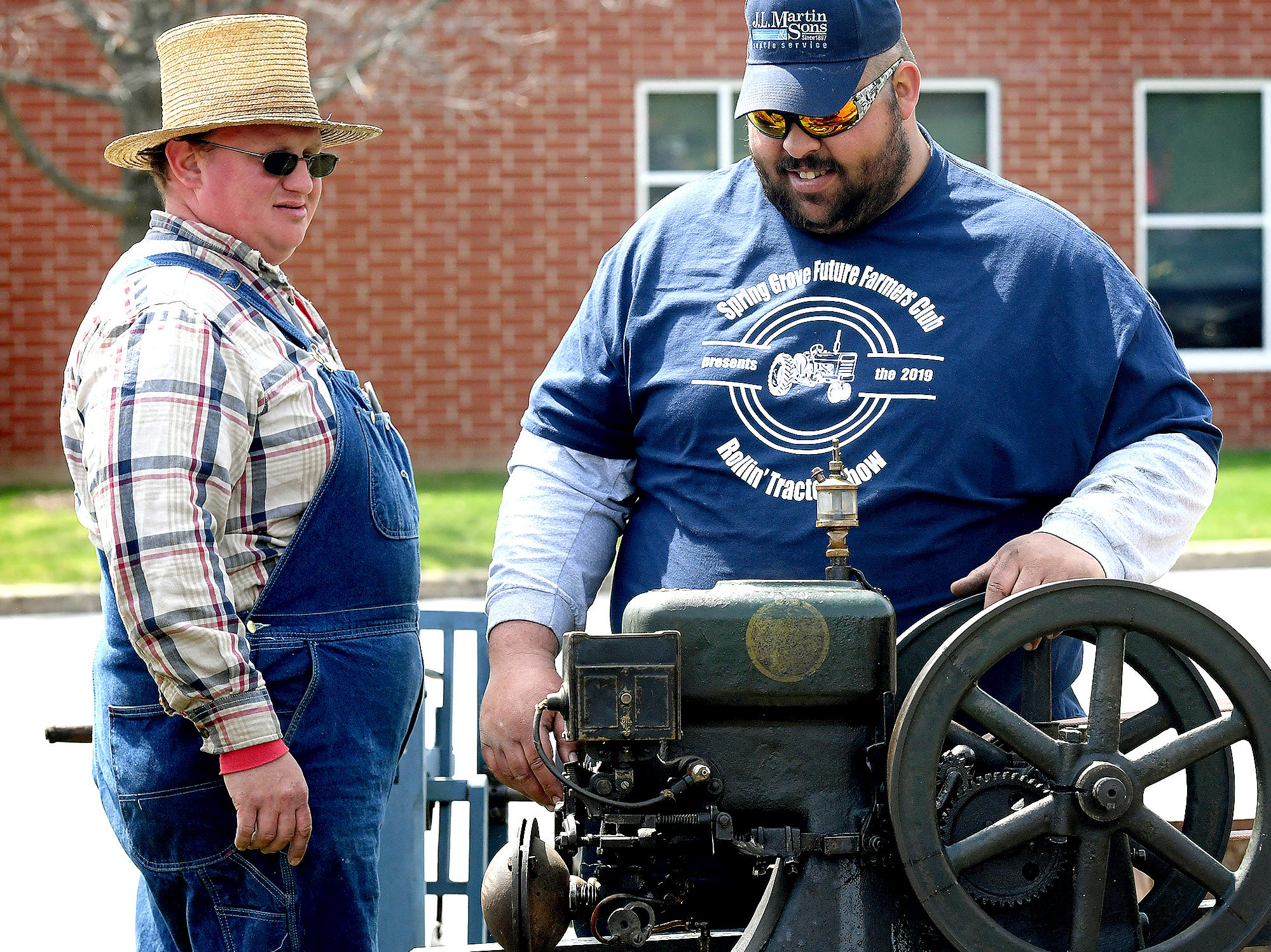 Alumni and area residents brought farm equipment to display with the goal of acquainting students with the agriculture industry during the district's 6th Annual Rollin' Tractor Show Thursday, April 11, 2019. The show is presented by the Future Farmers Club. It featured a parade of equipment and visited the intermediate and elementary schools. Bill Kalina photo