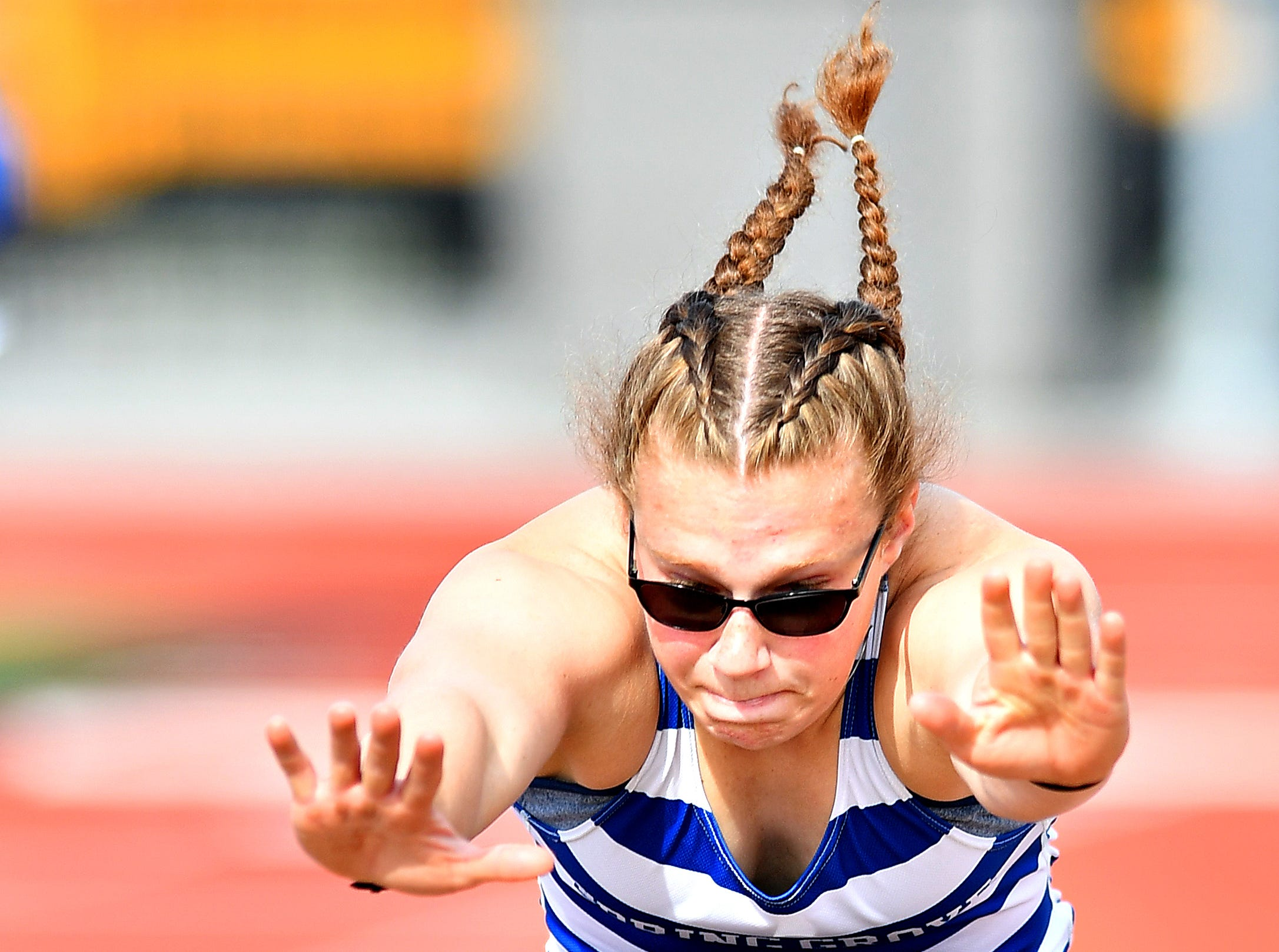 South Western vs Spring Grove during track & field action in Jackson Township, Thursday, April 11, 2019. Dawn J. Sagert photo