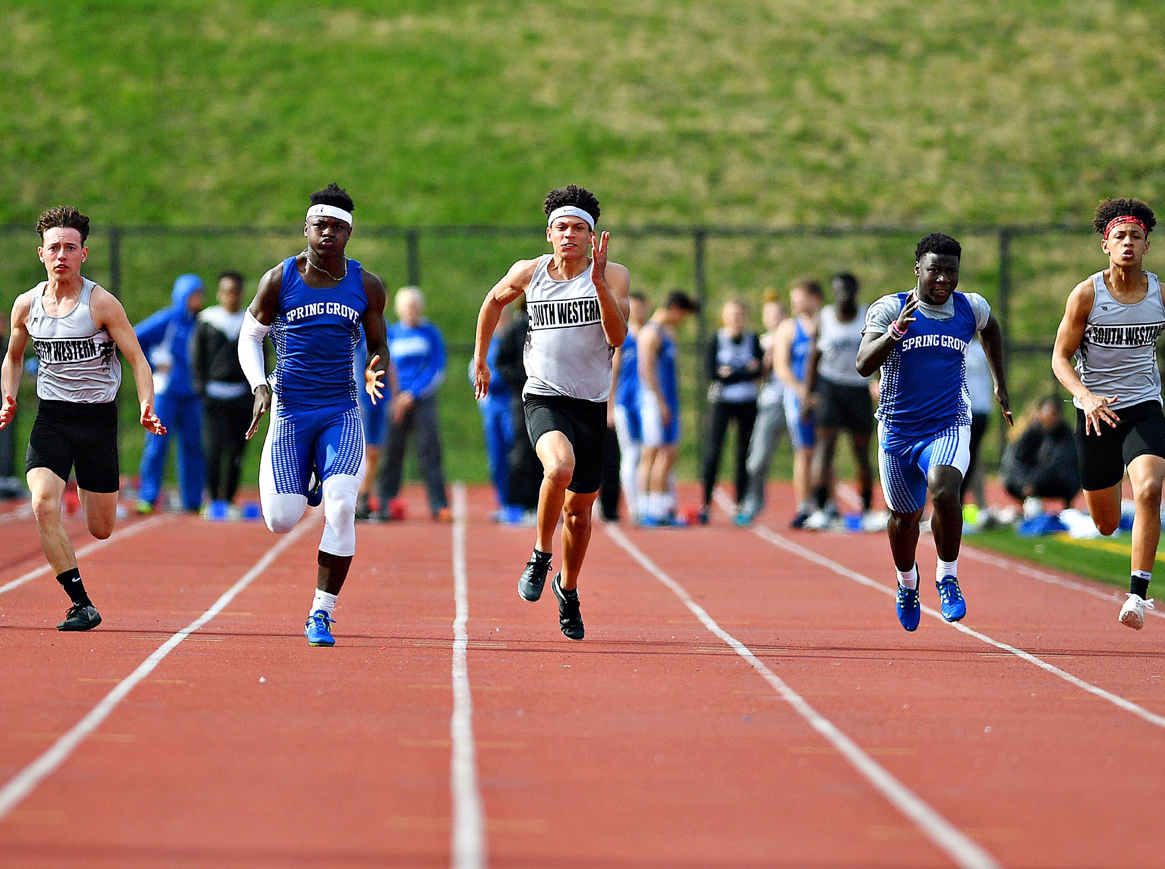 South Western vs Spring Grove during track action in Jackson Township, Thursday, April 11, 2019. Dawn J. Sagert photo