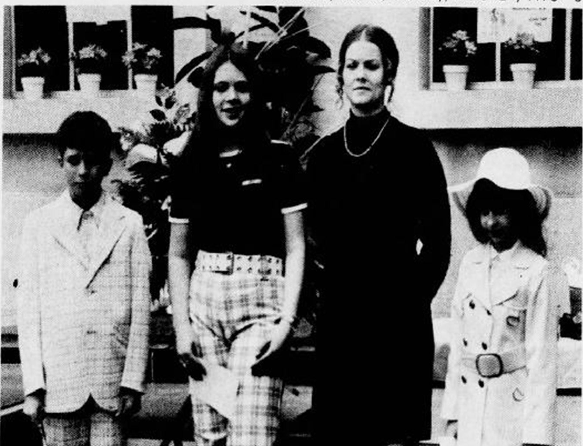 Participants in an Easter parade of fashion are shown in a photo in the York Daily Record, March 24, 1975.