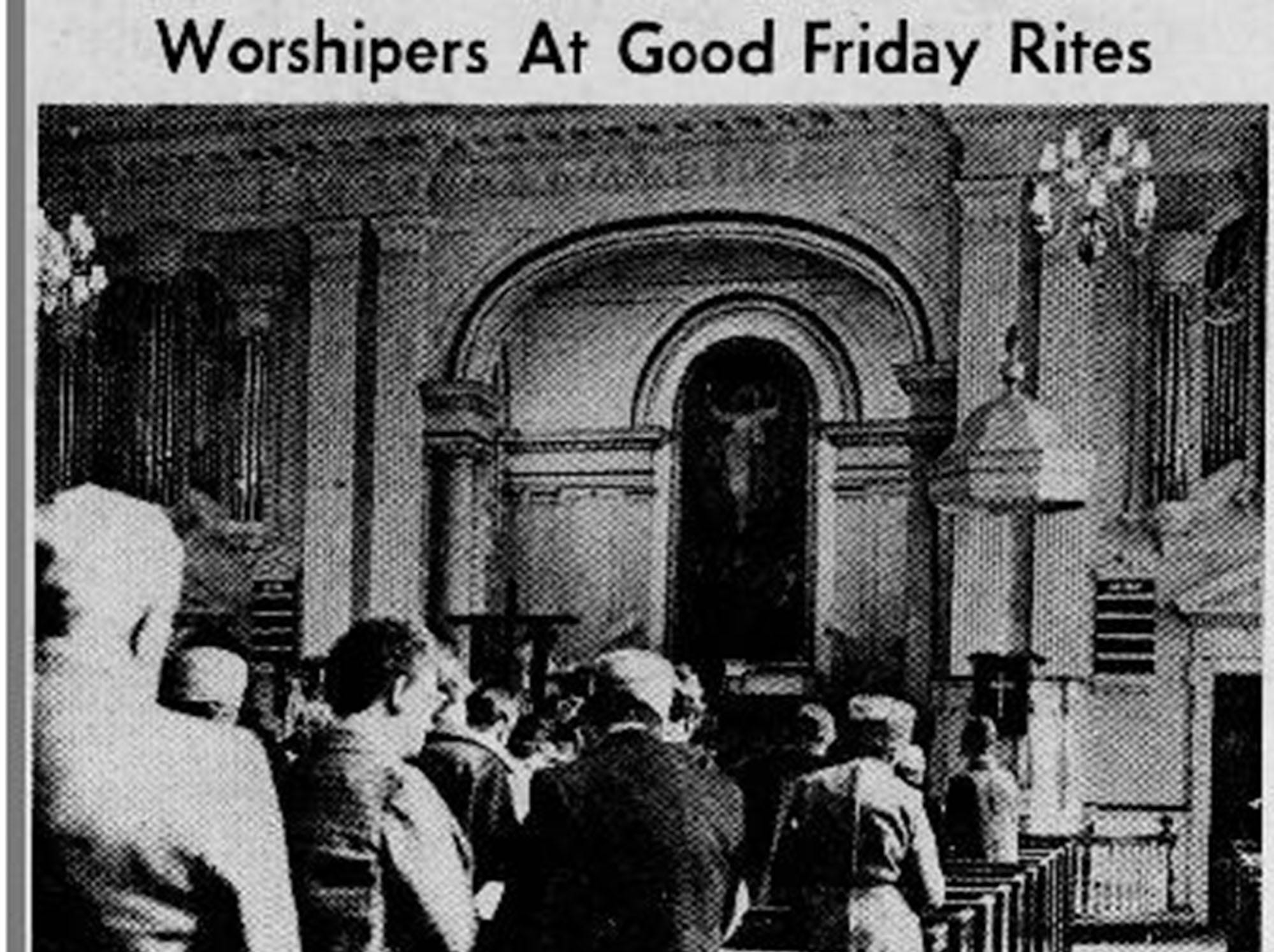 Photos from Good Friday service in March, 1970.