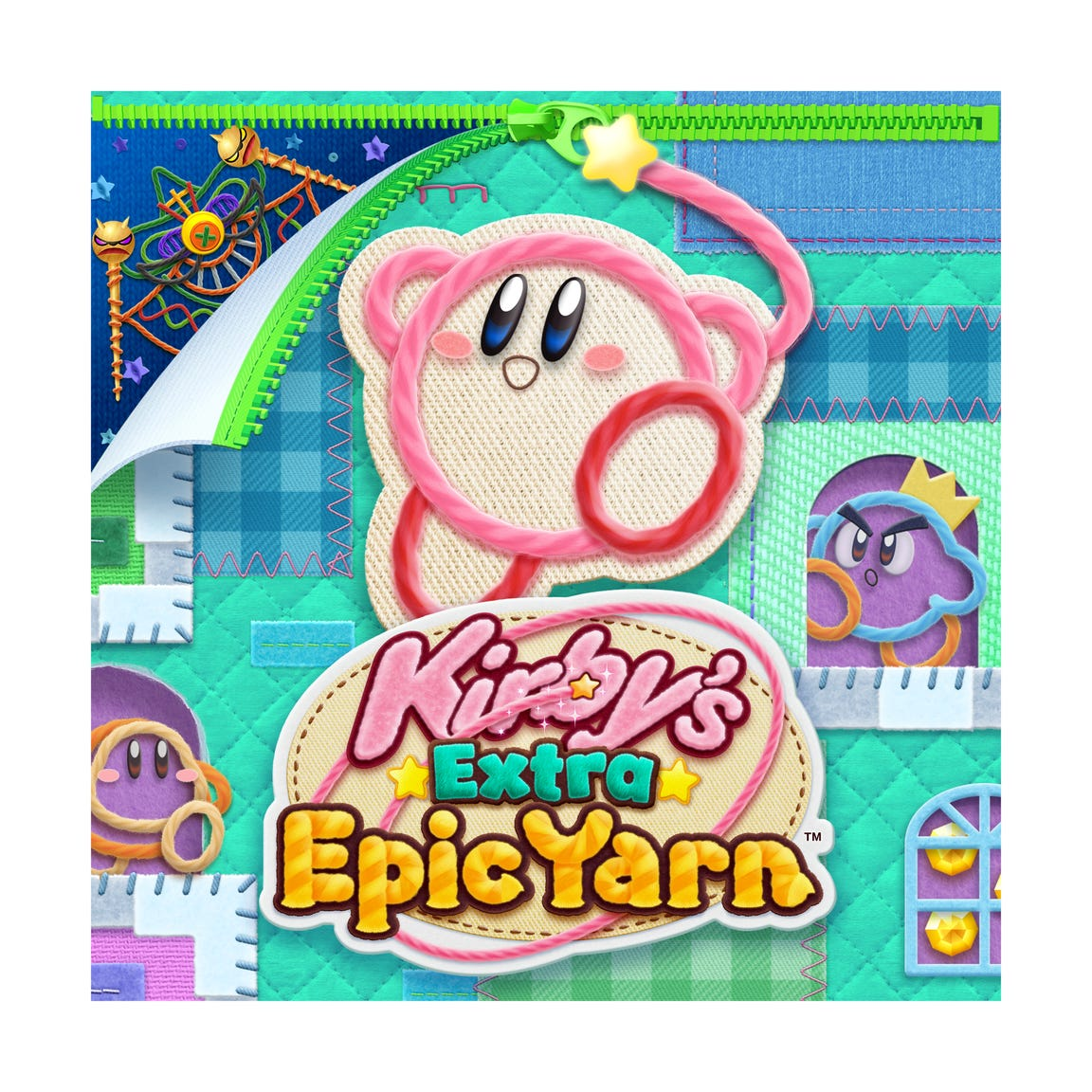 Kirby's Extra Epic Yarn for the Nintendo 3DS.