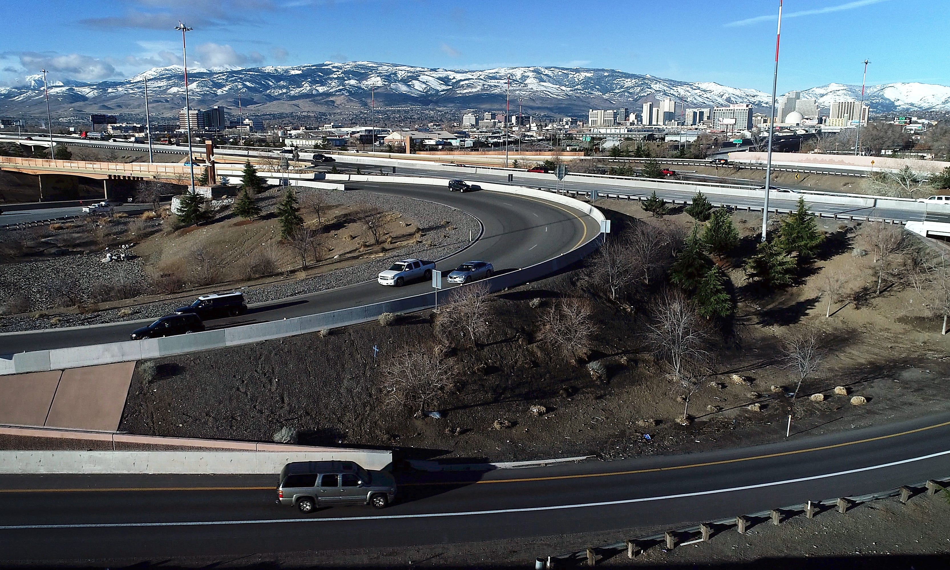 What is the deadliest stretch of road in Reno's Spaghetti Bowl?