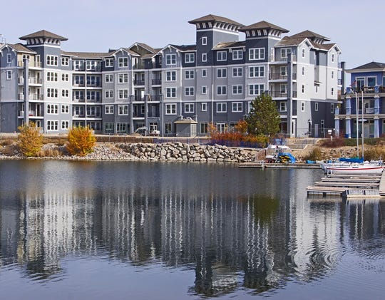 Waterfront at the Marina Apartments in Sparks features 209 units of one or two bedrooms, plus a parking garage and a 2,000-square-foot roof deck. Eighty-eight units have been released in the first leasing phase; move-ins began April 1, 2019.