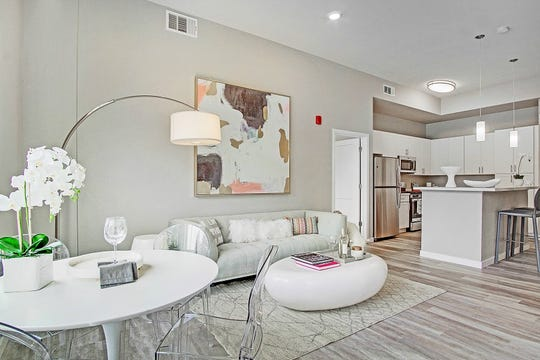 The two-bedroom, two-bath Havana model at Waterfront at the Marina Apartments in Sparks measures about 1077 square feet and rents for $1,799 to $2,350 a month, depending on location in the building.