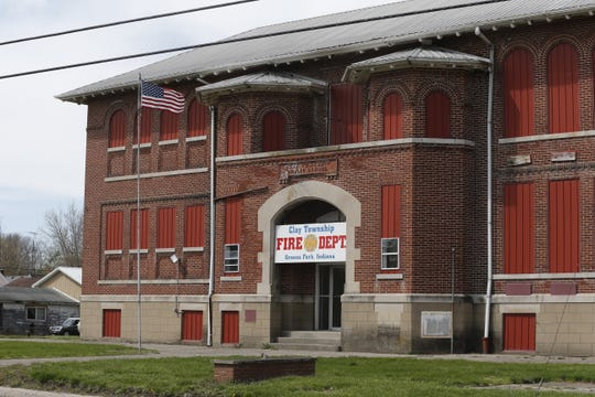 Greens Fork's former high school now serves as the home of the Clay Township Fire Department.