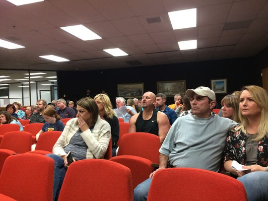 About 70 people attended Thursday night's Board of Zoning Appeals meeting in the Wayne County Administration Building.