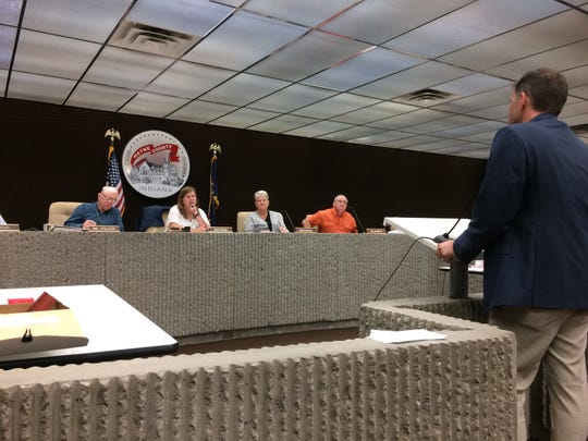 Matt Rice, representing Pinnacle Treatment Centers addresses the Wayne County Board of Zoning Appeals on Thursday.