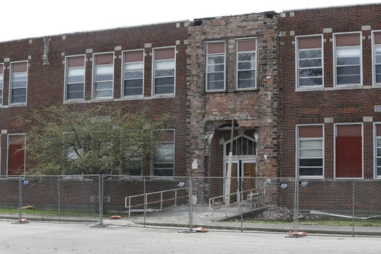 The former Milton School building is being torn down after years of deterioration had taken a toll on the property.