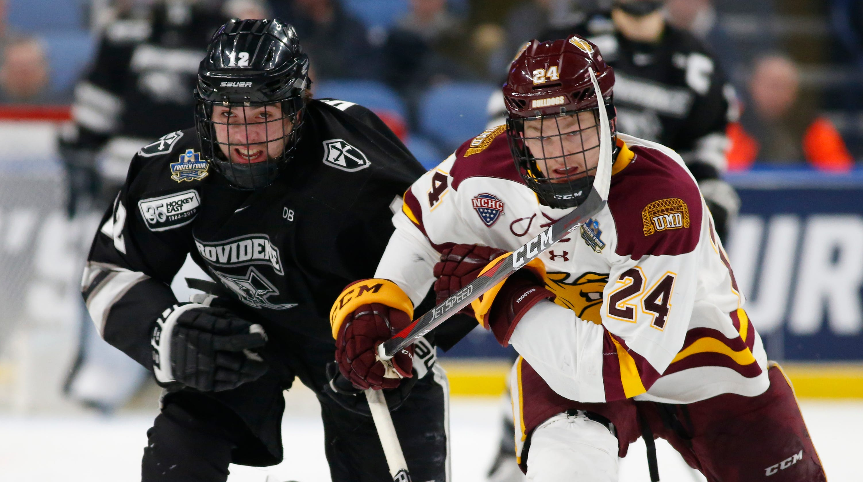 new style 6d9c3 bb540 Dugan, Providence upended by Duluth in Frozen Four semifinals