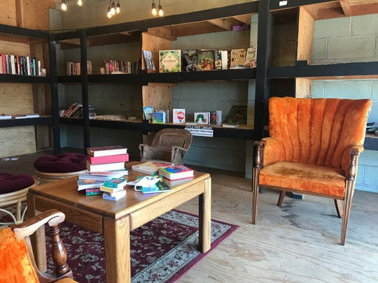The California Street Labs in downtown Redding features a library loft.