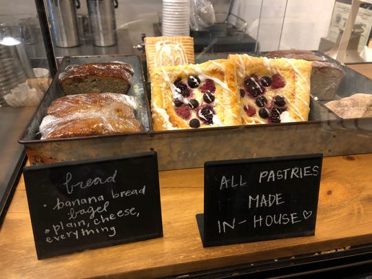 Some of the house-made pastries at the Stirring Coffeehouse in east Redding.