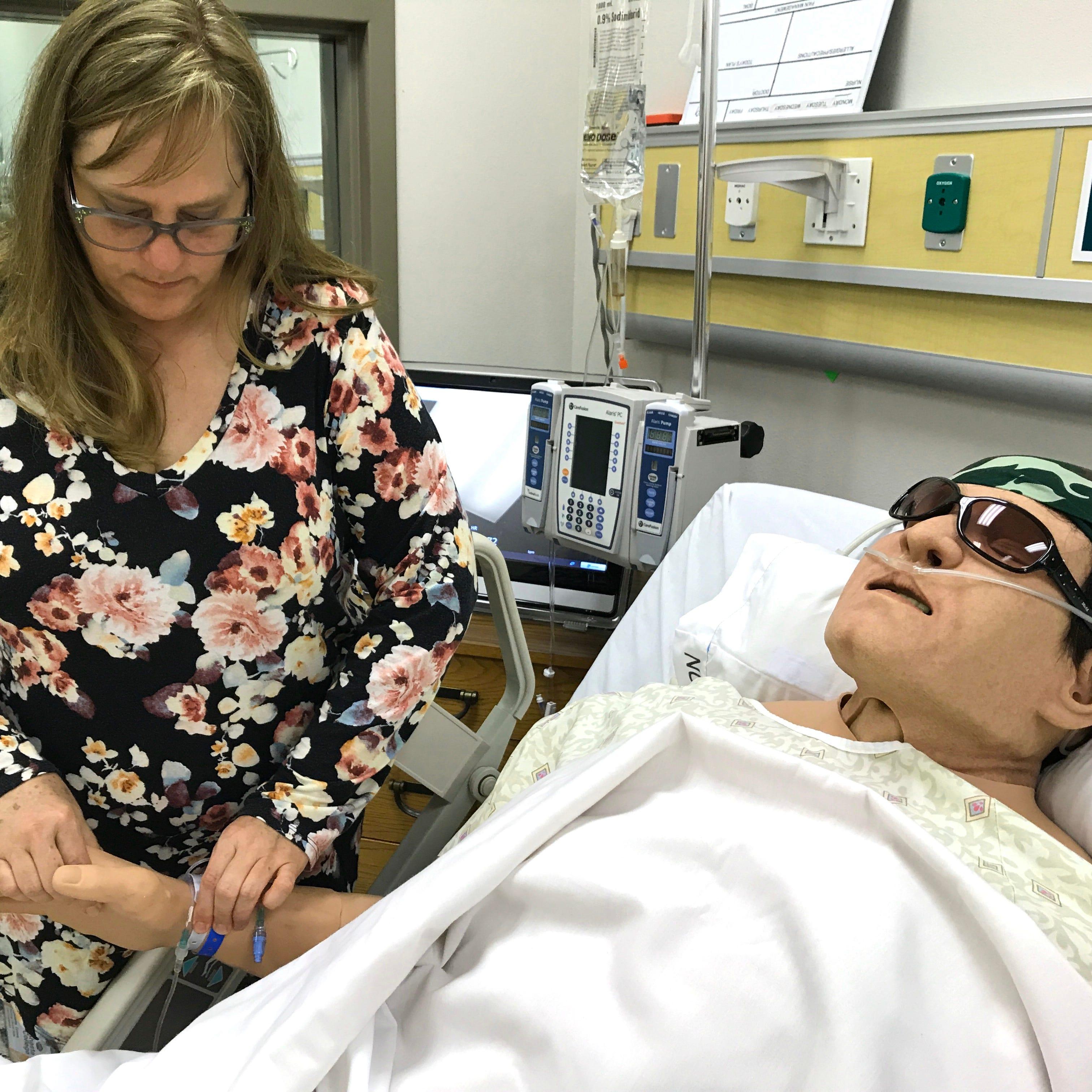 Human-like robots are helping train nurses in Redding
