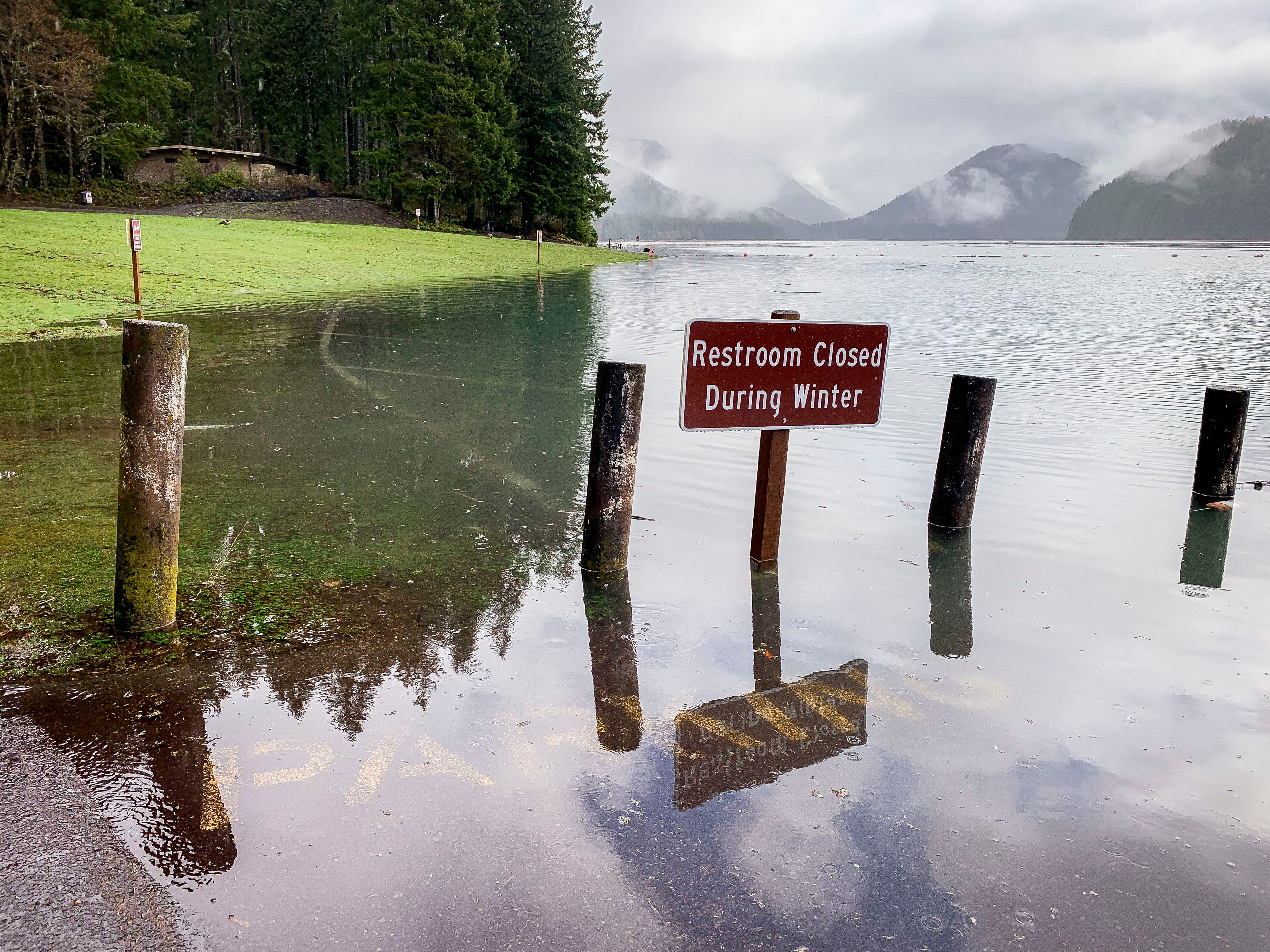 Due to a combination of rain and snow melt, Detroit Lake has risen 45 feet in five days to reach 'full pool' with weeks until the summer season officially begins.