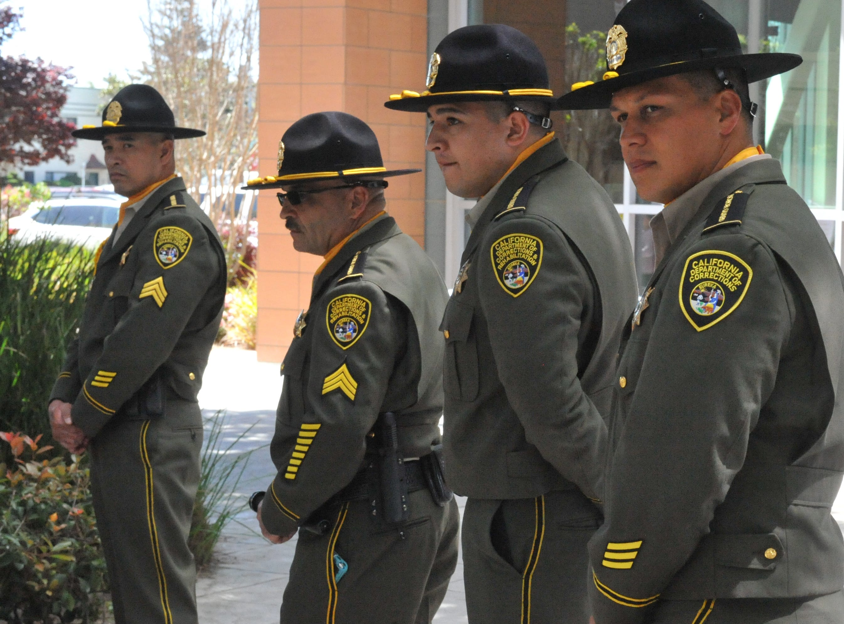 CDCR officers stand outside the door at the Monterey County celebration of National Crime Victims' Rights Week. April 12, 2019.