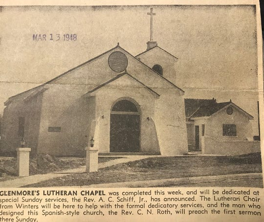 The original campus of Calvary Lutheran Church in San Angelo was located at LaSalle Drive and Paint Rock Road.