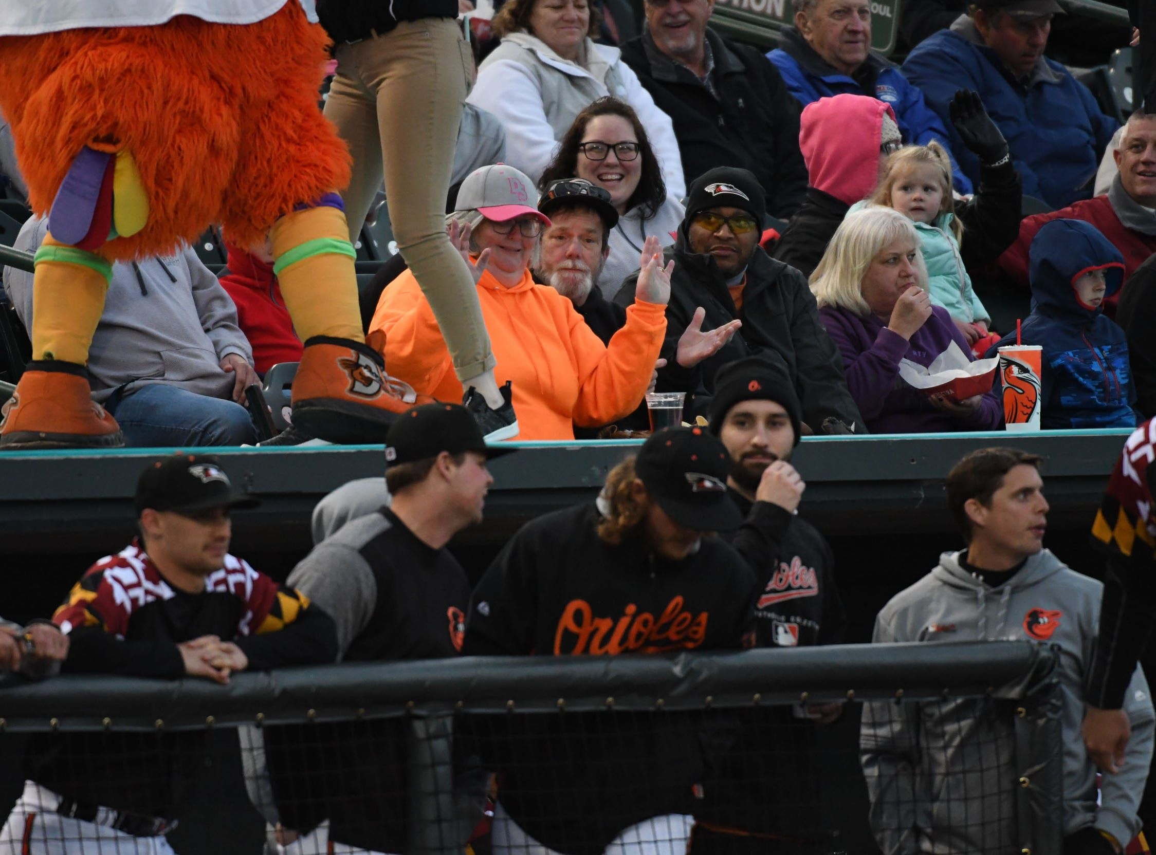 Fans are excited for the Delmarva Shorebirds opening night against the Wilmington Blue Claws on Thursday, April 11, 2019.