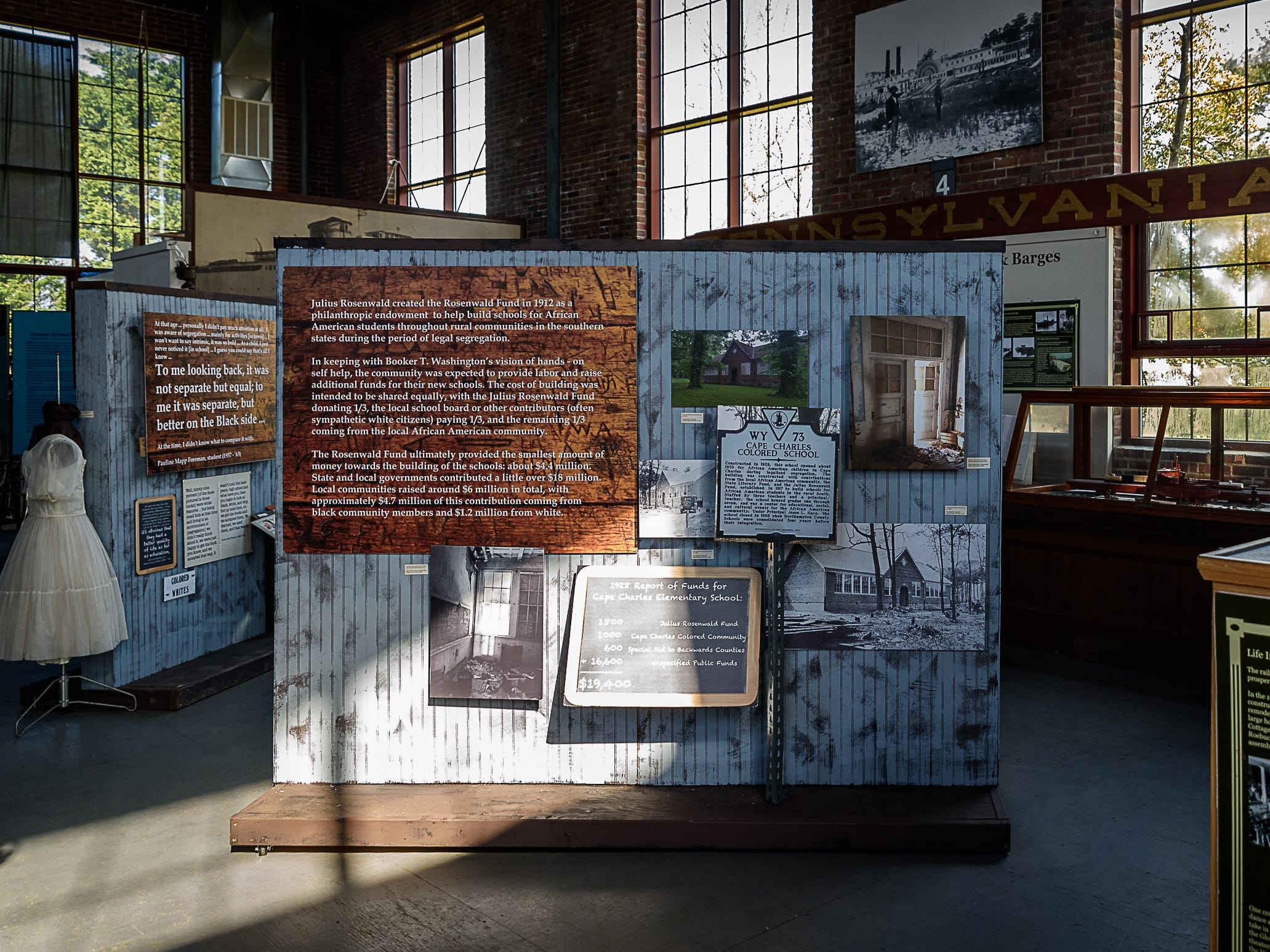 "The exhibit, ""Building a Community: The Cape Charles Elementary (Rosenwald) School,"" at the Cape Charles museum tells the story of that four-classroom schoolhouse during the era of legal segregation."