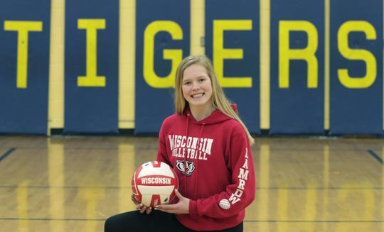Howards Grove eighth grader Saige Damrow has verbally committed to Wisconsin in recent days as a volleyball player.