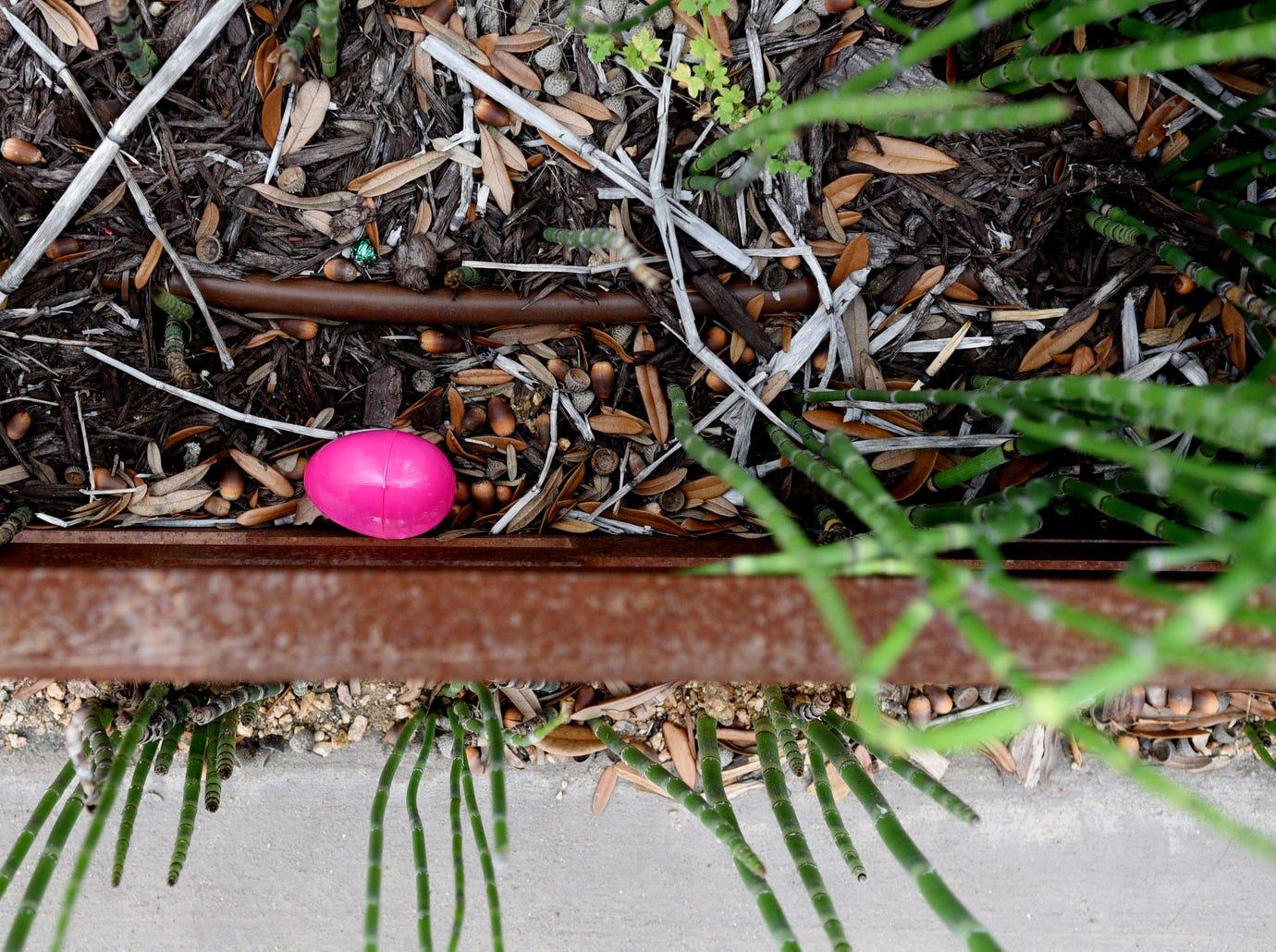 Adult Easter Egg Hunt in the East Bank District Thursday evening April 11, 2019.