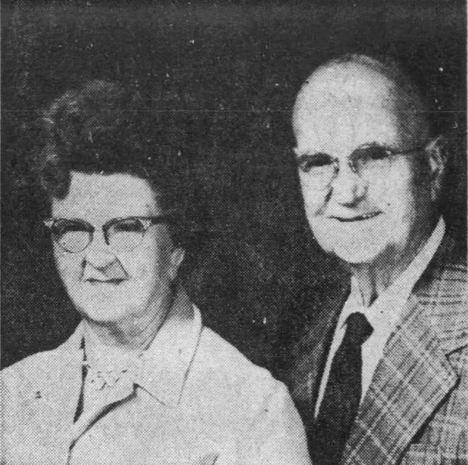 Margaret and Gabe Caffrey in 1973 upon the occasion of their golden wedding anniversary.