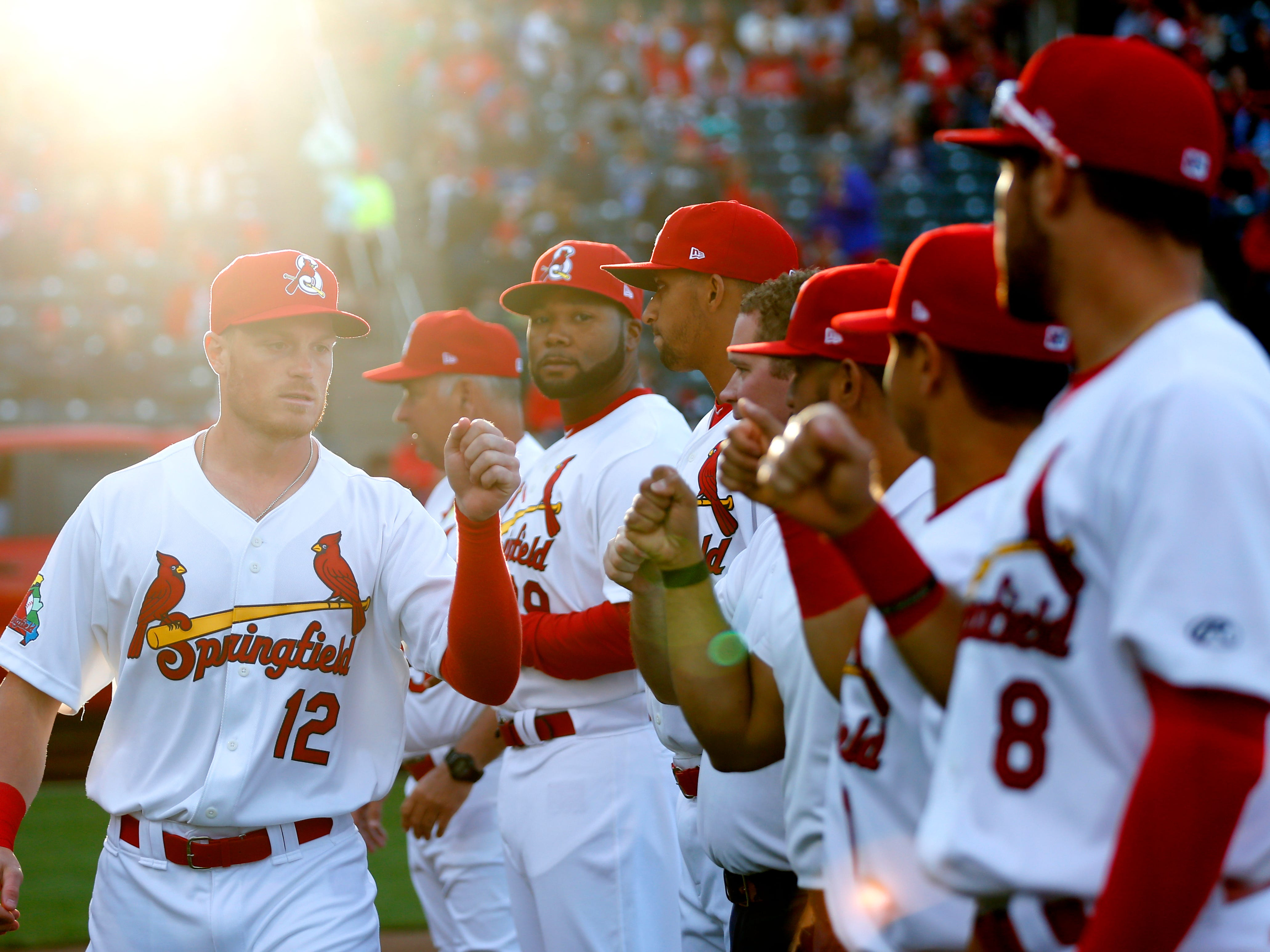 The Springfield Cardinals take on the Northwest Arkansas Naturals at Hammons Field on Thursday, April 11, 2019 during the Cardinals home opener.