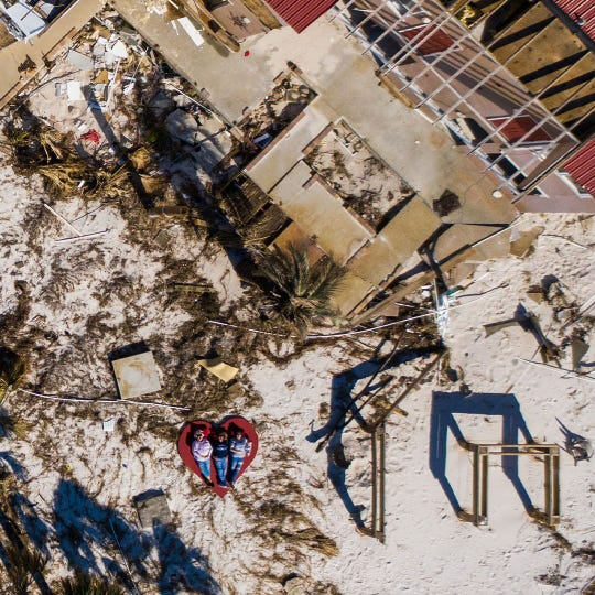 The beloved Driftwood Inn was totally destroyed by Hurricane Michael. A half a year later, owners are actively working on rebuilding.