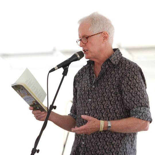 David Kirbry, Robert O. Lawton Distinguished Professor of English at Florida State, reading from one of his works.