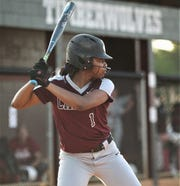 Chiles infielder Amaya Gainer bats as Chiles won 6-1 against visiting Franklin County on Wednesday, April 10, 2019.