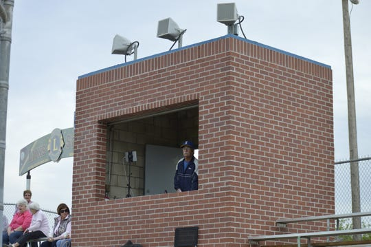 The press box at Lions Stadium was bricked as part of the ballpark's renovation project. Lions Stadium is the home field of the Exeter High School baseball team.