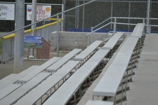 Lions Stadium, the home ballpark of the Exeter HIgh School baseball team, can seat up to 1,300 fans.