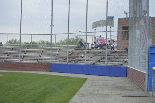 As part of the renovations for Lions Stadium, a new brick back stop was built. Lions Stadium is the home ballpark of the Exeter High School baseball team.