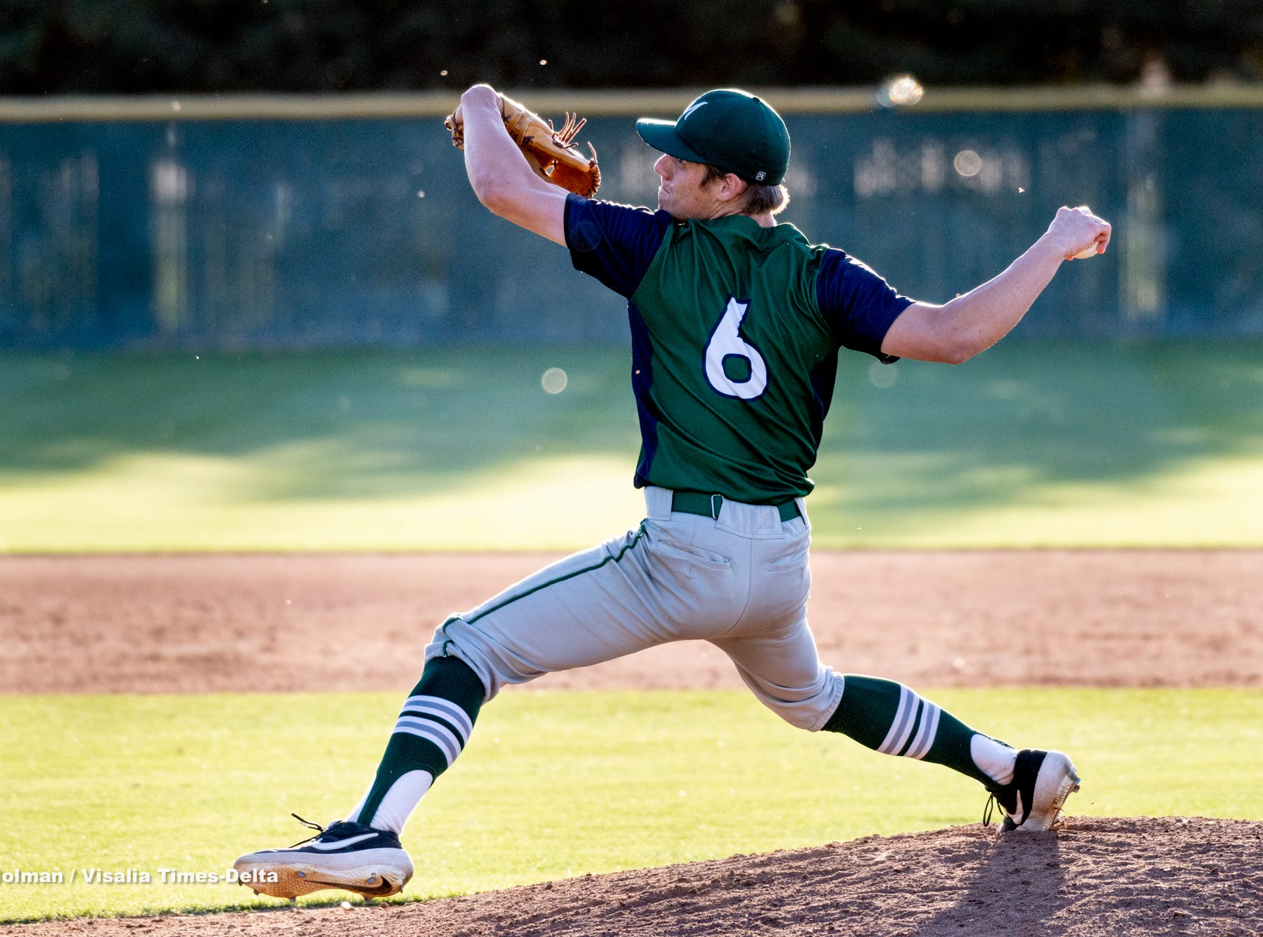 El Diamante's Chace Watson pitches against Mt. Whitney on Wednesday, April 10, 2019.