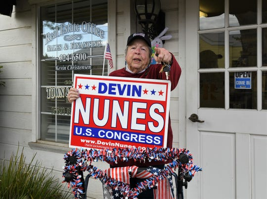 """Rose is a long-time Devin Nunes' supporter who works in an office in the same building as the congressman's Clovis office. She is glad that the politician is """"going after"""" the Fresno Bee and Twitter."""