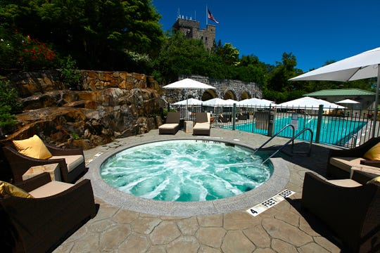 Pool and spa at The Castle at Tarrytown