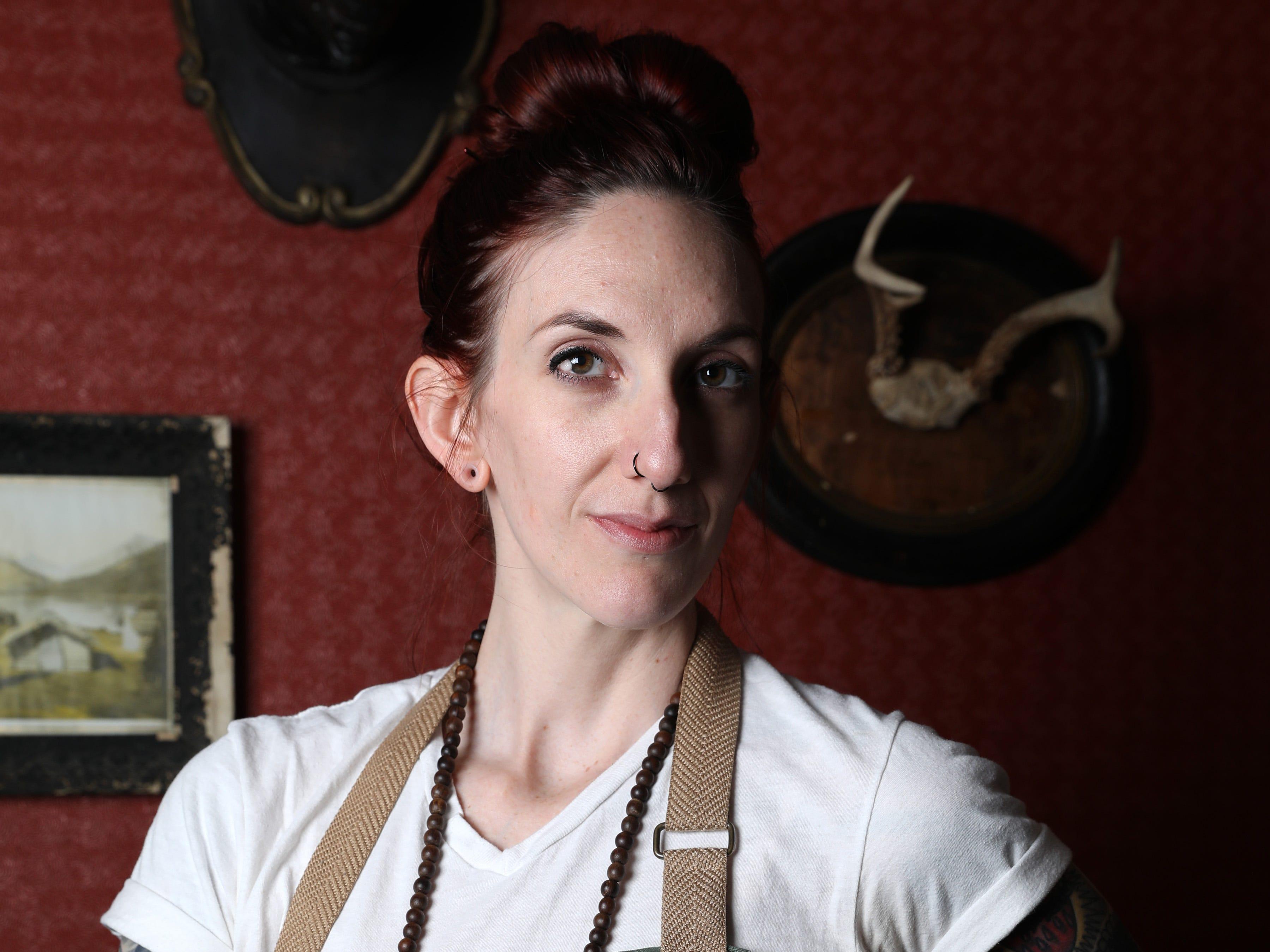 Chef Sajin Renae Perino, the chef de cuisine at The Cookery in Dobbs Ferry March 21, 2019.