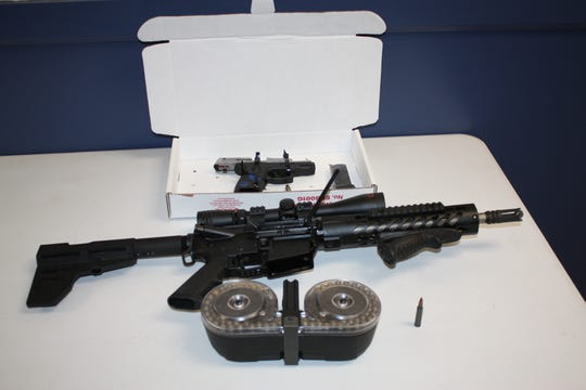 Eastchester police said Camron Sharod Burton was found with an AR-15 assault rifle, a handgun, and a few high-capacity magazines on April 10, 2019.