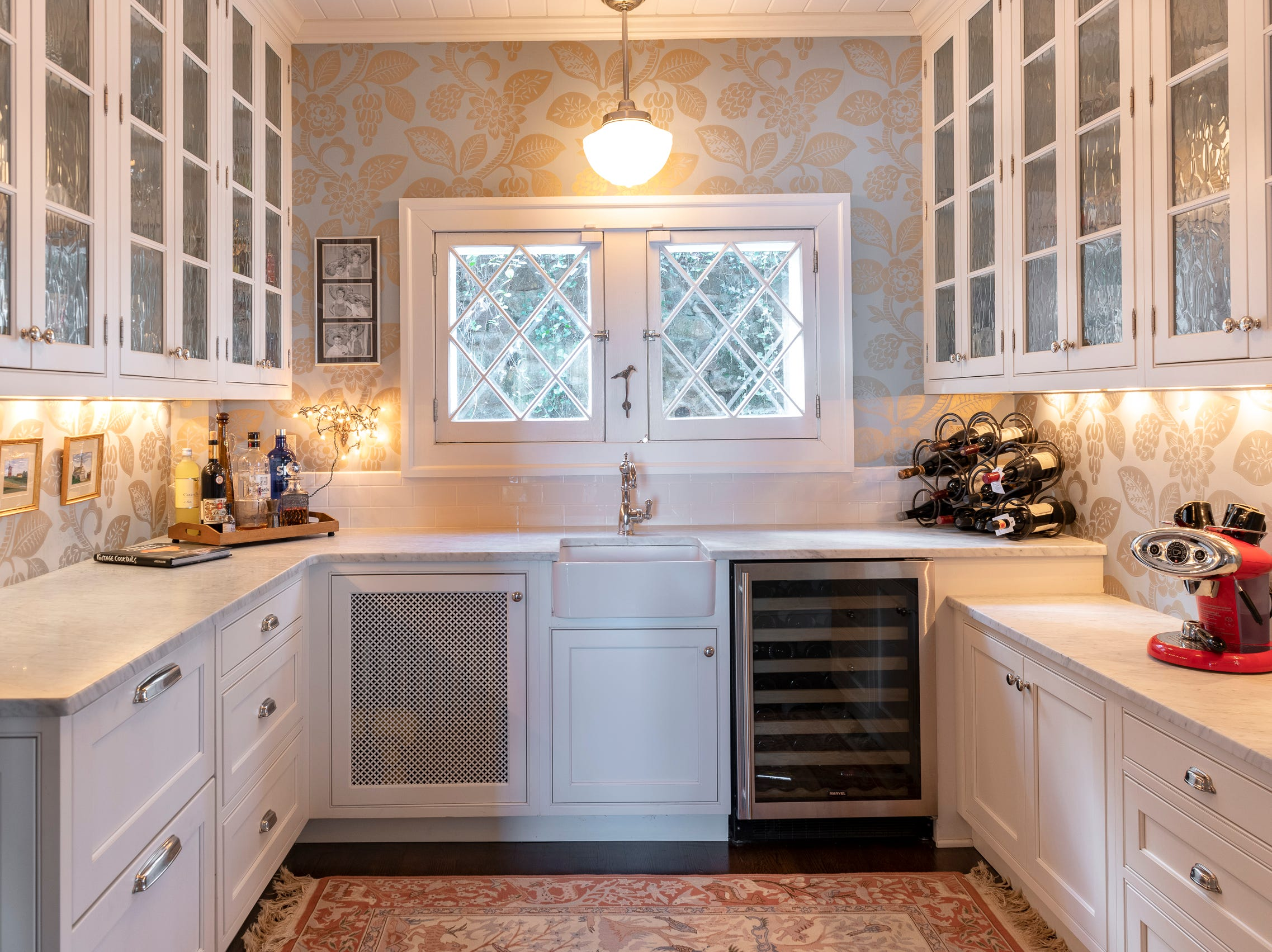The butlers pantry. The current owners created an addition that includes a gourmet eat-in kitchen.