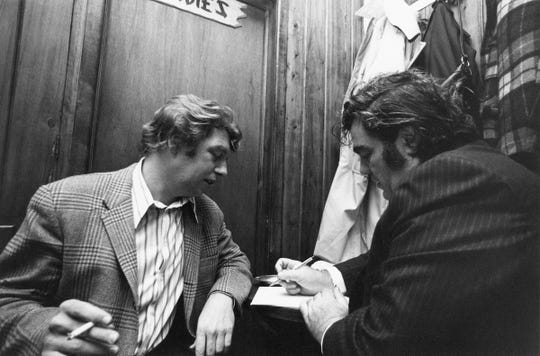 "Pete Hamill and Jimmy Breslin from HBO's ""Breslin & Hamill."""