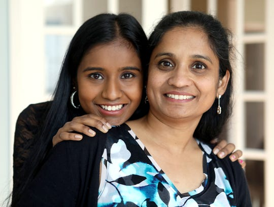 Jothi Ramaswamy, 17, a Lakeland high school senior is one of this year's two state winners in the Prudential Spirit of Community Awards which is the largest youth volunteer awards program in the United States.  Ramaswamy who created ThinkSTEAM is photographed with her mother, Sujatha Sambandham at their home in Mohegan Lake April 10, 2019.