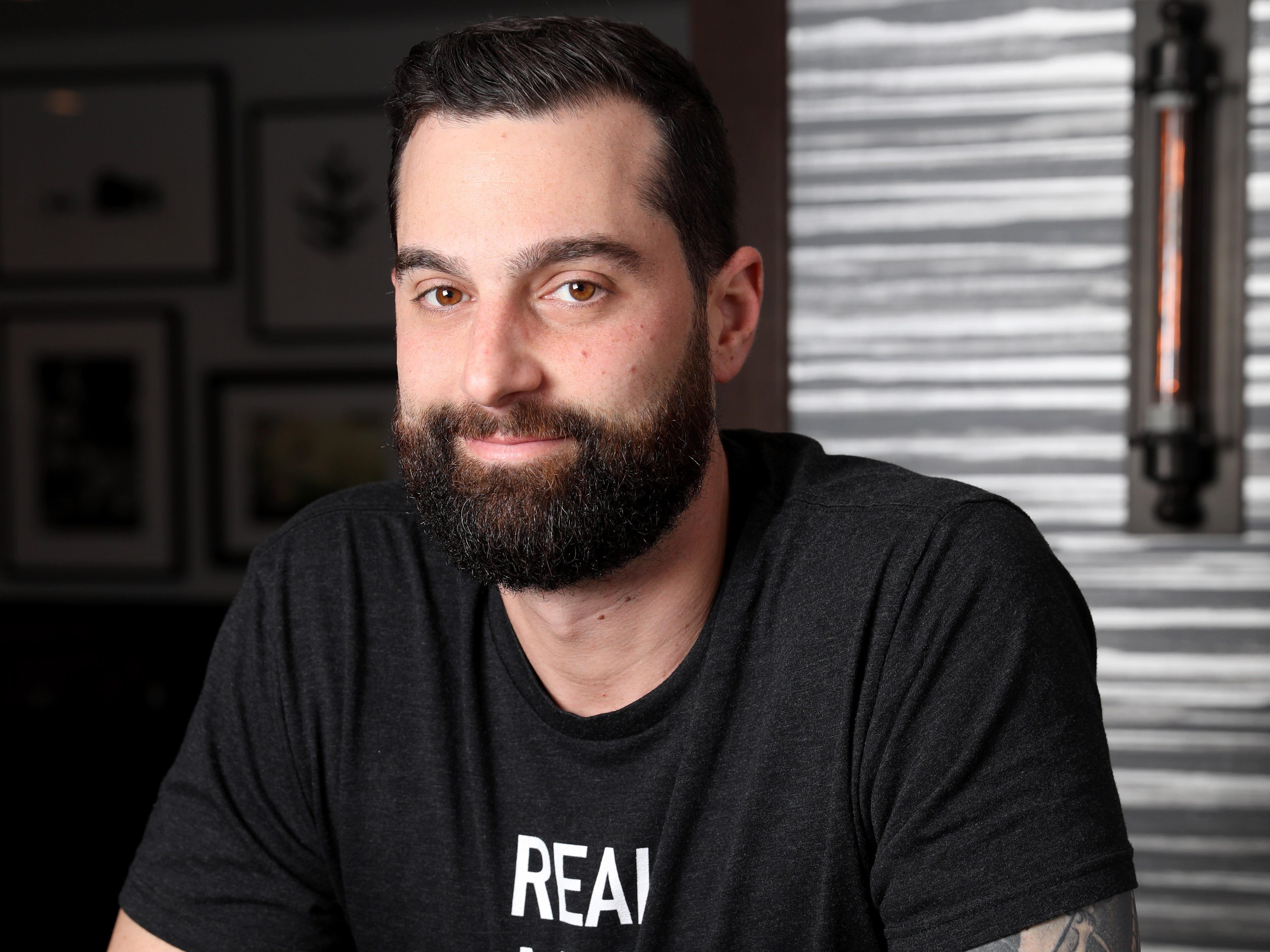 Chef Matthew Safarowic, operator of The Whitlock in Katonah March 14, 2019. Safarowic has about 10 tattoos.