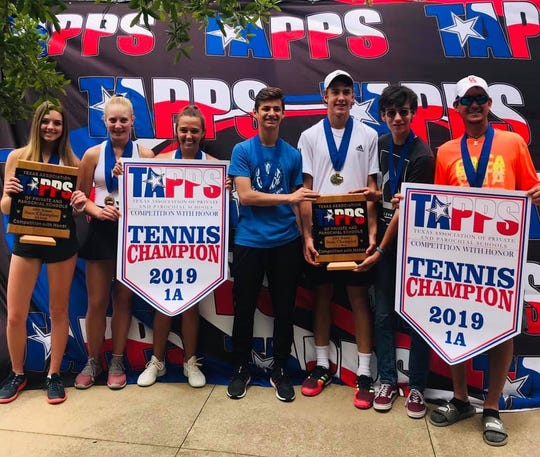 The Christ Academy tennis team won three individual state titles and both team championships Thursday in Waco.