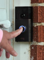 Ring video doorbells are designed to notify and show homeowners movement around the house and allow them to speak remotely to someone via phone app when the doorbell is activated.