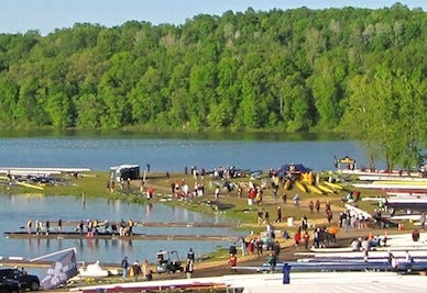 Members of the Midwest Scholastic Rowing Association will complete this weekend at Dillon Lake.