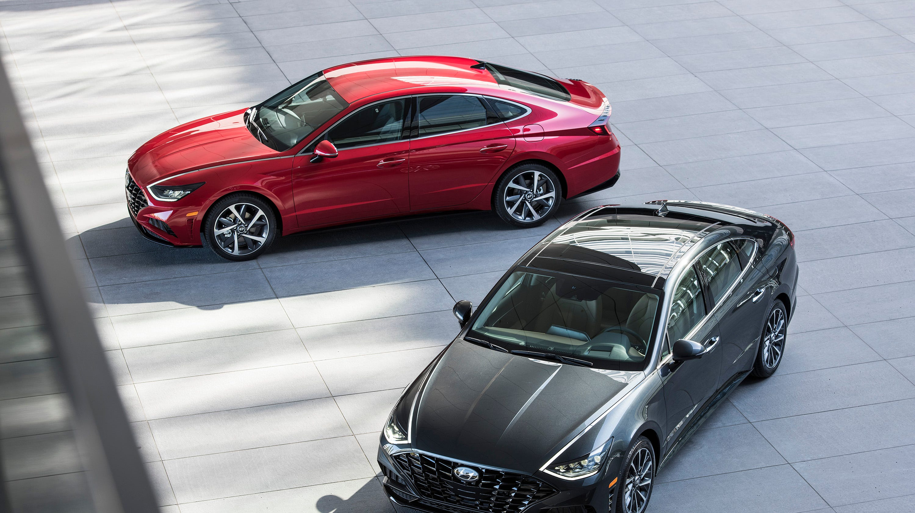 """The redesigned 2020 Hyundai Sonata feature a """"digital key,"""" a smartphone app, and smart tech that emphasizes convenience."""